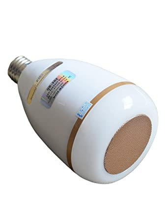 BMQ Smart Light Bulb Speaker with App Remote Control - New Function of  Light Flashing as Music Goes
