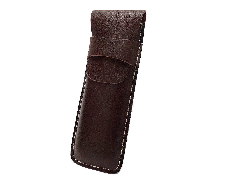 GJKKYJ Retro Leather Bag Leather Cowhide Vertical Bag Buckle Unisex Color : Metallic, Size : Small