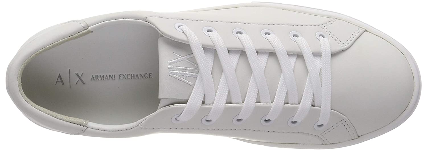 Armani Exchange Damen Cow Leather lace lace lace up Turnschuhe Weiß Weiß A222, 37 EU fb6ddf
