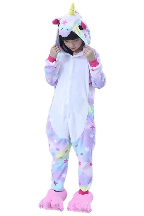 Amazon.com: Obtai Onesie Rainbow Unicorn Kigurumi Cosplay Costume Animal Pajamas Nightwear Halloween Jumpsuits for Adult and Kids: Clothing