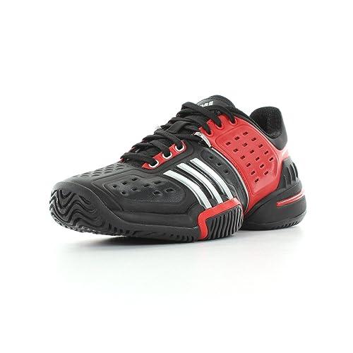 adidas Barricade 6.0 X Junior - Zapatillas de Tenis de Material sintético para niño Negro Noir, Rouge et Argent 37 1/3: Amazon.es: Zapatos y complementos