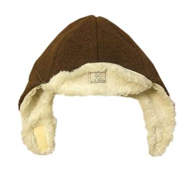 e9609384b0c Pickapooh Hat 100% Merino Wool Boiled Plush Baby Boy Girl Children Organic  Cotton Winter Earflap
