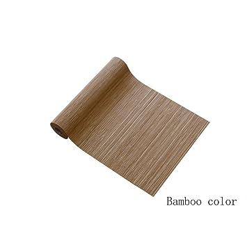 Tischlaufer Tischlaufer Bambus Tee Tischset Crossweave Woven Vinyl