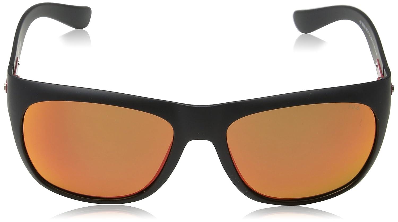 Fila Hombre N/A Gafas de sol, Negro (Semi Matt Black), 56 ...
