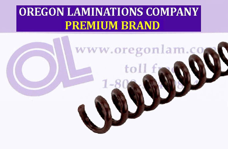 Dark Brown PMS 440 C 4:1 pk of 100 /¼ x 15-inch Legal Spiral Binding Coils 6mm