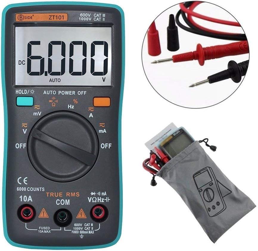 FJZ-FJZ Digital Multimeter ZT101 Multifunction AC//DC Voltage Current Resistance Capacitance Frequency Tester Resistance Tester