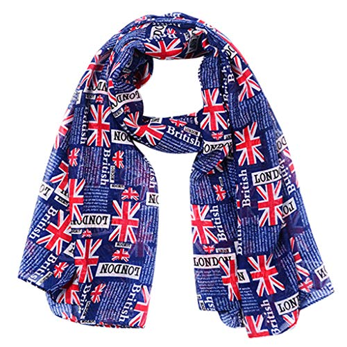 Women Fashion Flag Printed Scarf, Witspace Union Jack Shawl Wrap Letter Printed (Union Printed)