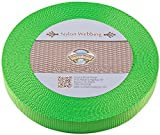 Country Brook Design | Hot Lime Green Heavy Nylon Webbing (1 inch, 10 yards)