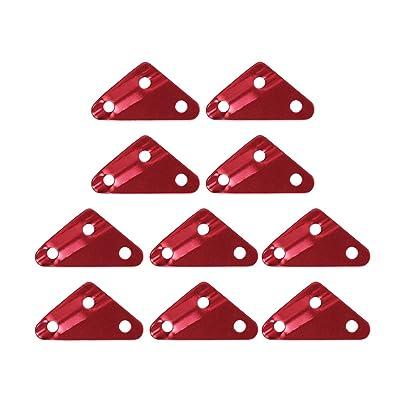 10pcs Fixation de Corde Coureur Tendeur de Hauban pour Tente Camping Randonnée Taille M - Rouge