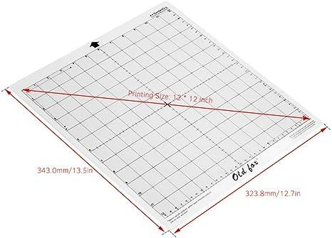 MLJHJ Alfombra de baño 3 unids Reemplazo Estera de Corte Estera Adhesiva Transparente con Rejilla de medición para Silueta Cameo Plotter Máquina en esteras de Corte 30.8 x 30.8 cm: Amazon.es: Deportes