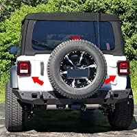 Tail Light Guard Covers Rear Lights Protectors Sammanlight Tail Lamps Cover for Jeep Wrangler 2018 JL Sports 2pcs