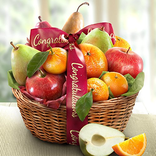 Golden State Fruit Orchard Favorites Gift Basket, Congratulations