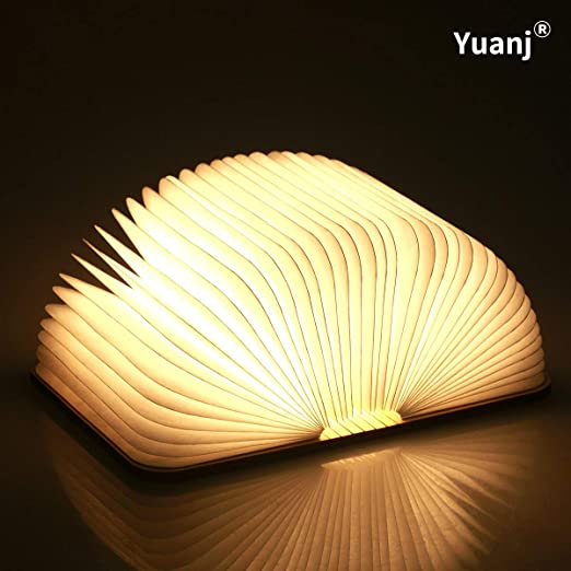 Livre Lampe Pliante Rechargeable Par Usb Lumiere Led Magnetique En Bois Lumieres Decoratives Lampe De Table Lampe De Bureau Avec Batterie Lithium