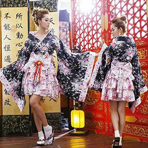 - Chinatera Japanese Sakura Kimono Cosplay Lolita Anime Maid Uniform