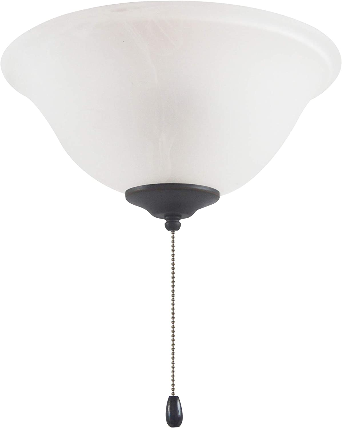Design House 156497 Ceiling Fan LED Kit 3-Light Bowl with Pull Chain, Oil Rubbed Bronze