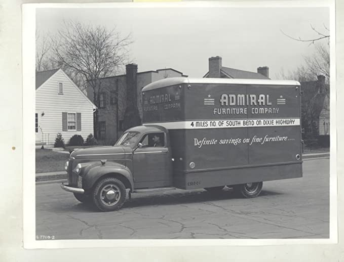 Incroyable 1941 Studebaker M15 South Bend IN Furniture Truck ORIGINAL Factory Photo