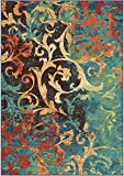 Orian Rugs 2818 Spoleto Scroll Watercolor Scroll Multicolor Area Rug, 7.83 x 10.83 ft. Review