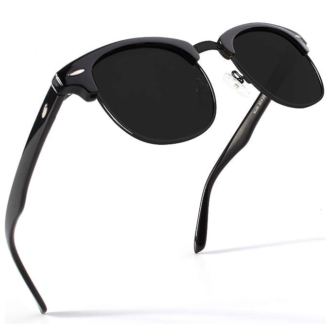 Amazon.com: SUNIER SR001 - Gafas de sol polarizadas semi sin ...