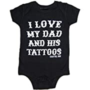 Cartel Ink Kid's I Love My Dad and His Tattoos One Piece Bodysuit Baby 6M