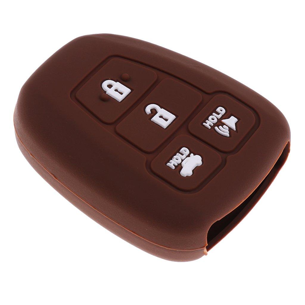 MagiDeal Car Keyless Smart Key Case Cover for Toyota Corolla RAV4 Camry - Transparent non-brand