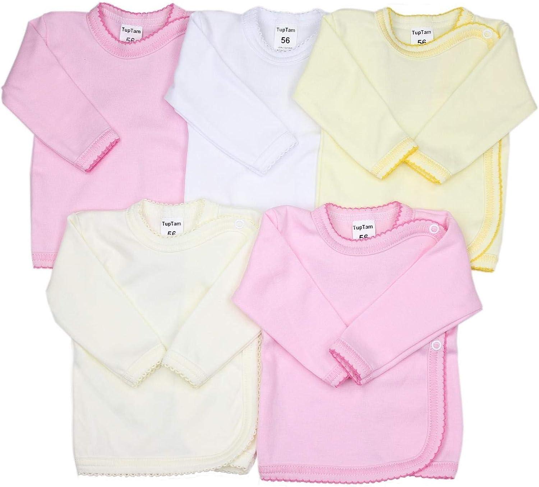 TupTam T-Shirt pour B/éb/é Fille Manches Longues Lot de 5