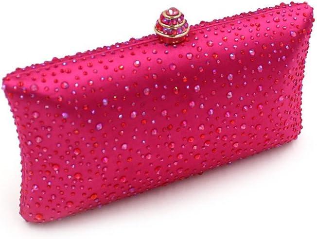 Borsa da Sera Pochette da Donna Borsa cosmetica da Sposa Pochette da Sposa Pochette da Sera per La Festa di Nozze (Color : Green) Red