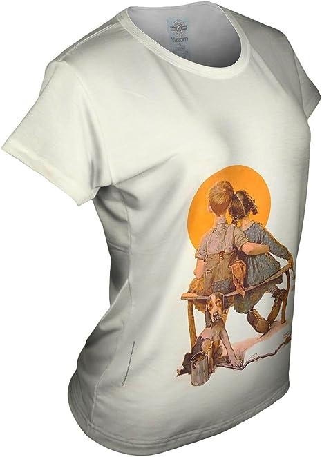 Yizzam Womens Tank 2399 Norman Rockwell Boy and Girl Gazing .-Tshirt