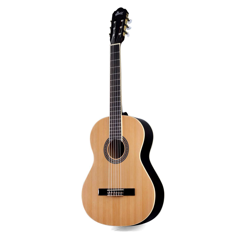 Cordes Suppl/émentaires et Chiffon de Polissage Accordeur Winzz Guitare Classique Corde en Nylon 3//4 Taille 36 Kit de D/émarrage pour /étudiants D/ébutants avec Sac