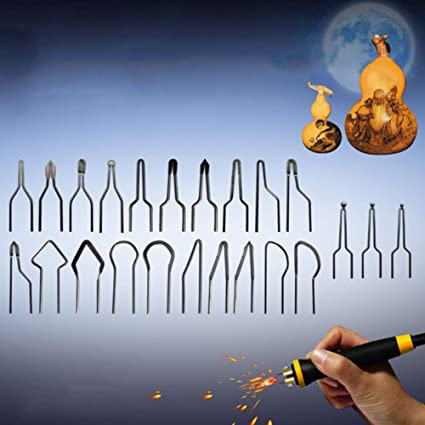 64PCS Wood Burning Kit Pyrography Tool W//Temperature Pen For Wood Carving//Solder
