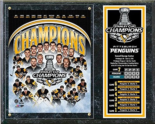 (Pittsburgh Penguins 2016 Stanley Cup Champions Wood Plaque (Size: 12