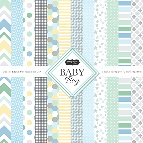 Scrapbook Customs Themed Paper Scrapbook Kit, Baby Boy by Scrapbook Customs