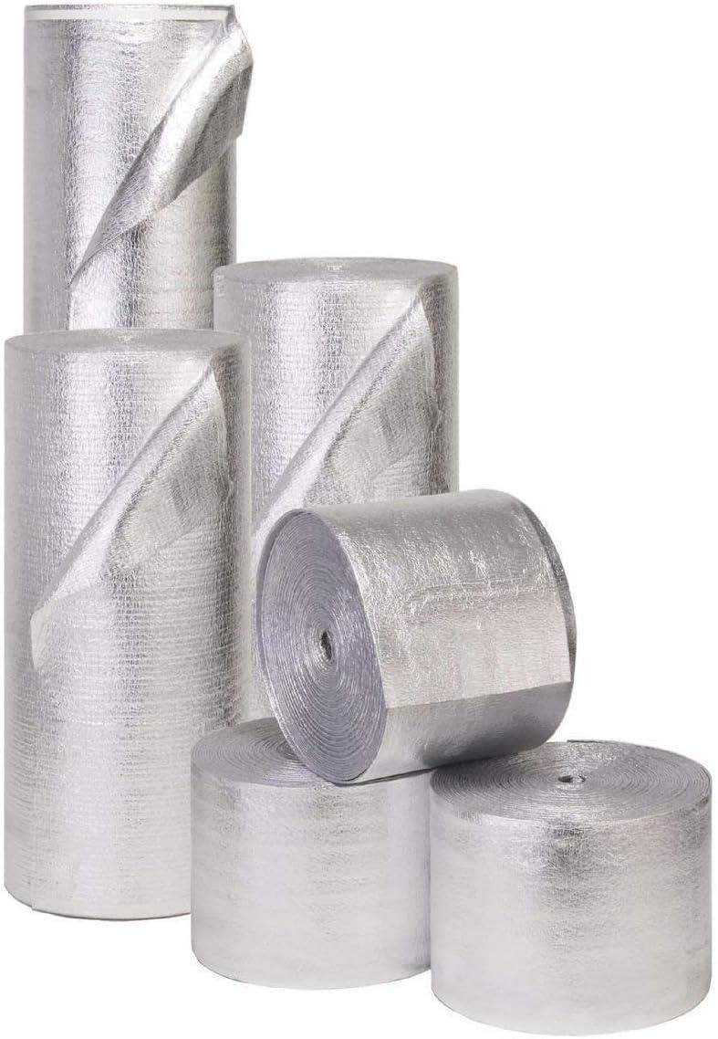4ft x 50ft Double Sided SOLID Foam Core Insulation 1//4 Waterproof Vapor Barrier