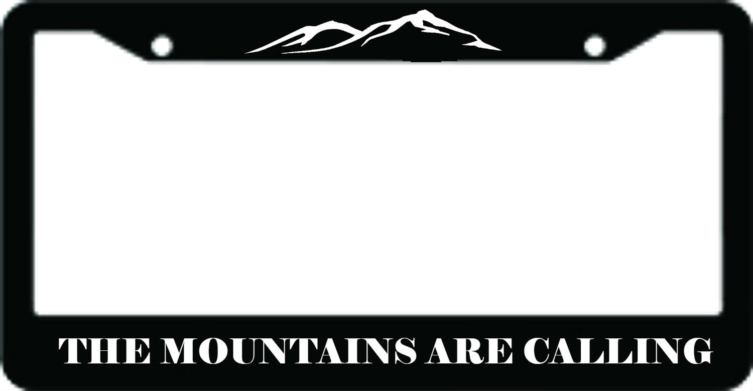 The Mountains are Calling ABS PlasticLicense Plate Frame