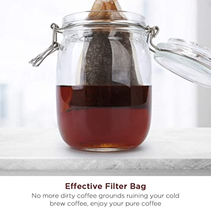 Bolsa para filtro de café frío, Merssyria Iced Coffee Maker Single ...