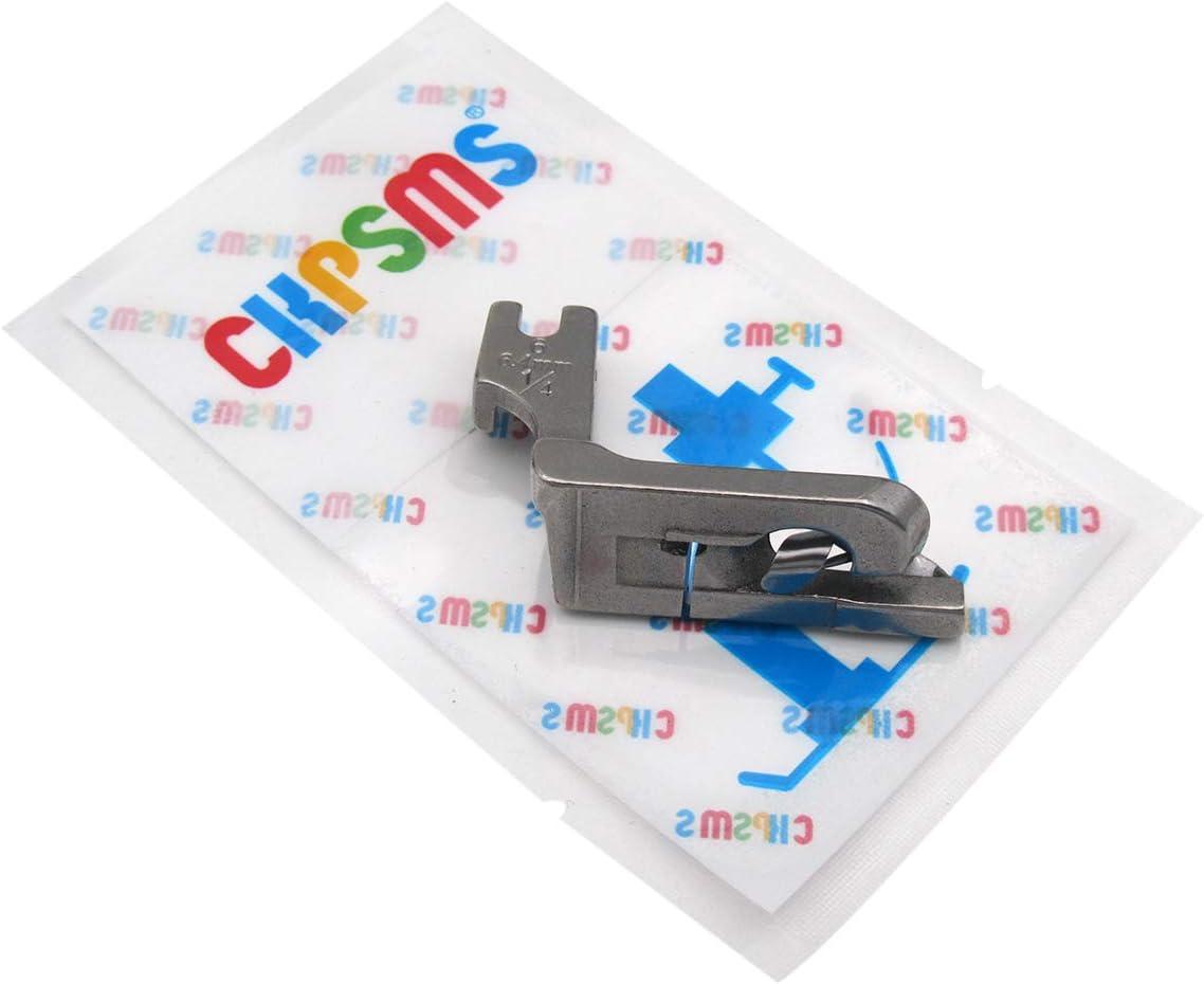 120803 1//8 CKPSMS Marca 1piezas Tipo de Desplazamiento Hemmer Pie//Rodillo Doblado Doble Dobladillo Prensatelas para M/áquina de Coser