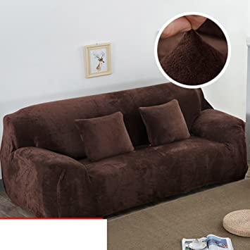 KFHIWUEHPJHD Funda de sofá de Felpa Color sólido,Sofá de ...