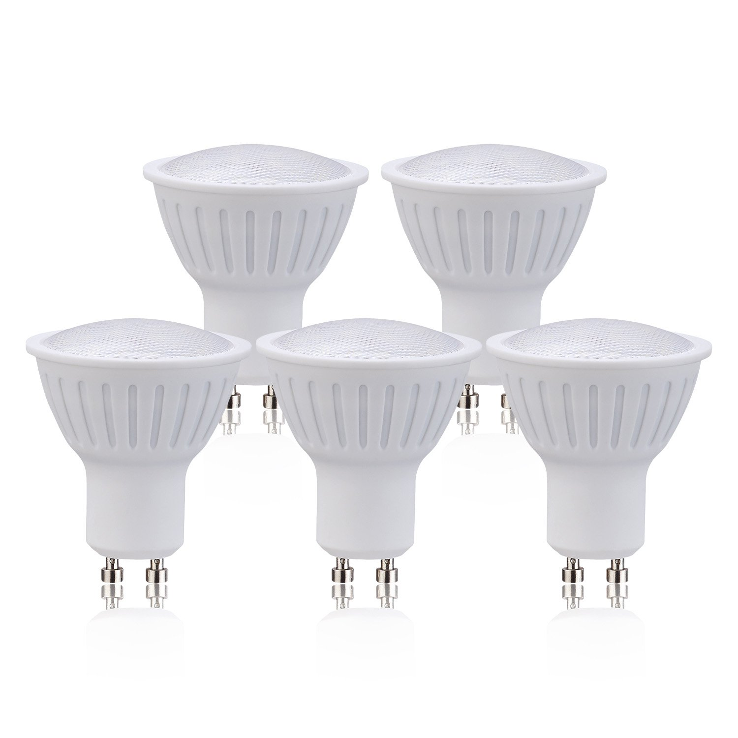(5 Pack)GU10 Dimmable LED Flood Light Bulb Soft White(3000K) Light Bulbs 3W (30W Equivalent) for Home, 270LM 120V 120 Degree Beam Angle LED Bulb.