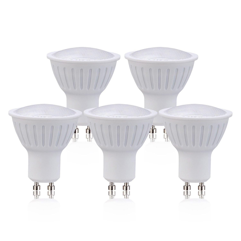 (5 Pack)GU10 Dimmable LED Flood Light Bulb Soft White(3000K) Light Bulbs 3W (30W Equivalent) for Home, 270LM 120V 120 Degree Beam Angle LED Bulb.