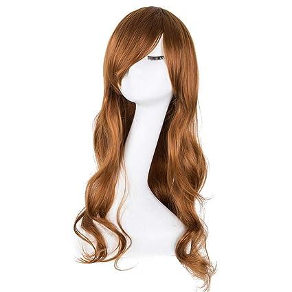 Pelucas Peinados Pelucas rizadas Fibra sintética resistente ...
