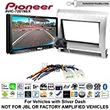 Volunteer Audio Pioneer AVIC-7201NEX Double Din Radio Install Kit with GPS Navigation Apple CarPlay Android Auto Fits 2005-2011 Non Amplified Toyota Tacoma (Light Silver)