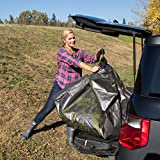Allsop-Home-Garden-31586-Clean-Up-Canvas-Super-Duty-Tarp-with-Interlocking-Handles-of-300-lb-Capacity-for-Garden-and-Yard-Waste