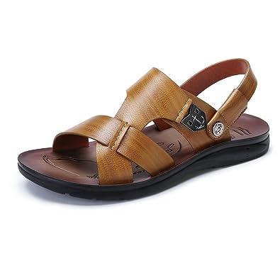 f0b88f5fb Camel Crown Men s Sandals Slide Sandal Open Toe Casual Shoes Outdoor Beach  Shoe(Khaki