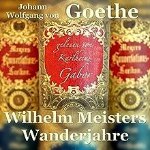 Wilhelm Meisters Wanderjahre Hörbuch von Johann Wolfgang von Goethe Gesprochen von: Karlheinz Gabor