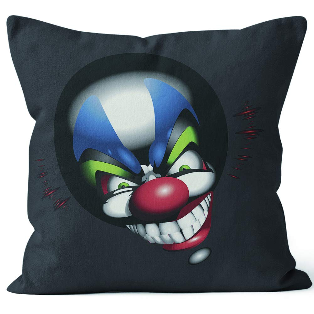 Amazon.com: Nine City Funny Clown face Throw Pillow Cover,HD ...