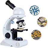 Microscope for Kids Science Kit Beginner's Microscope Kit with LED 80X 200x and 450x Magnification Kids Science Toy Educational Toy Birthday Gift Blue/White - By Scientoy