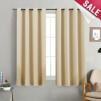 Amazoncom Beige Curtains Room Darkening Window Curtains Bedroom