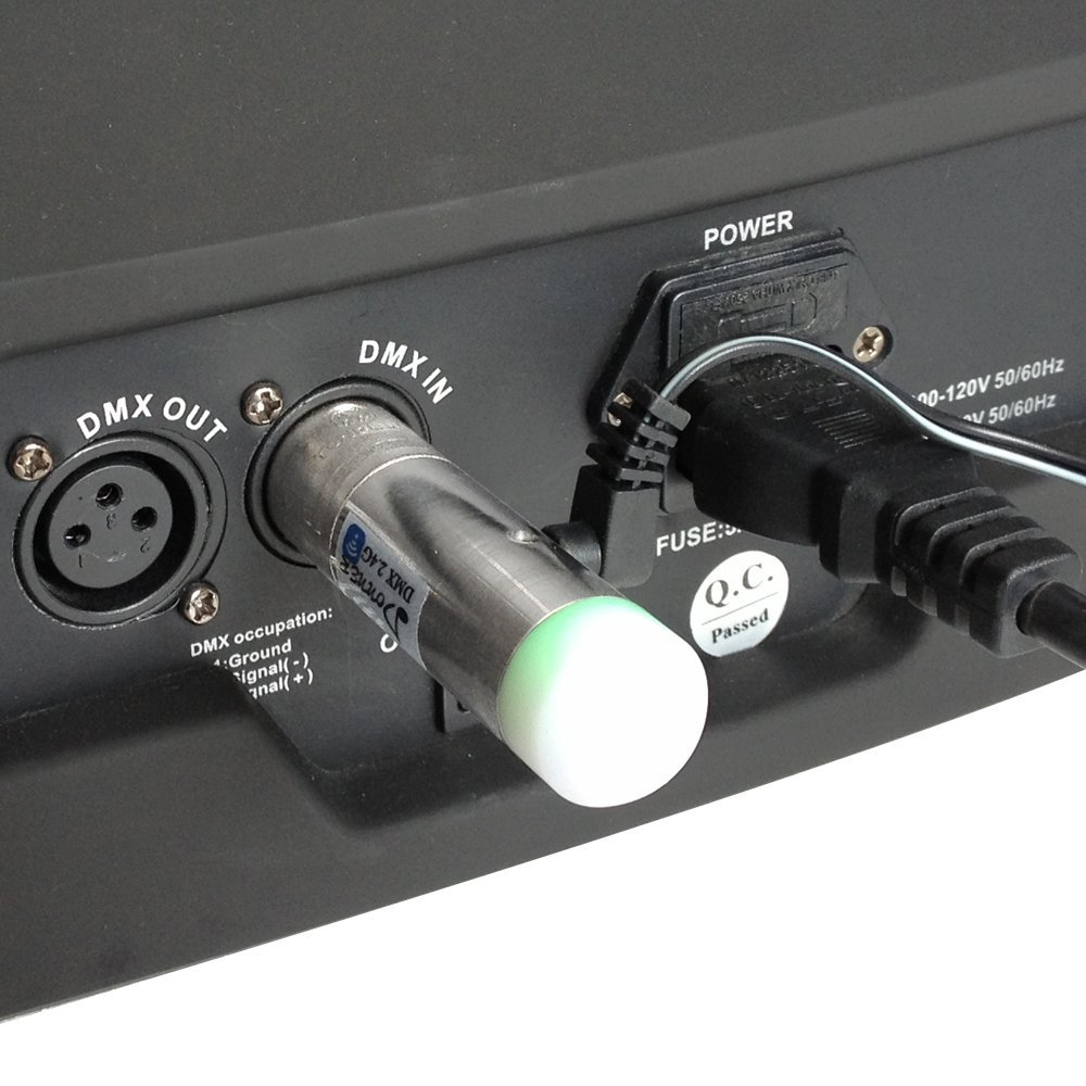 1 Transmitter+2 Receiver Sisthirth 3pcs DMX512 DMX Dfi DJ 2.4G Wireless 2 Ricevitore /& 1 trasmettitore Controllo dellilluminazione a LED Versione corta per LED Stage Par Party Light