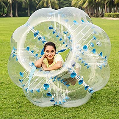 ANCHEER Inflatable Bumper Bubble Soccer Ball Dia 4ft/5 ft(1.2m/1.5m) Giant Human Hamster Ball for Adults and Teens : Sports & Outdoors