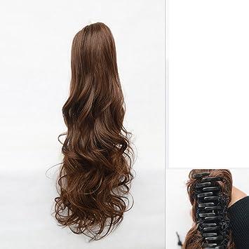 peluca de pelo de caballo/Pelo largo y rizado garra clip postizos/ grandes olas