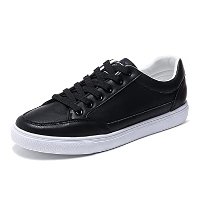 11e6498e1b94 PP FASHION Men's Korean Style Low Top Flat Sneakers PU Leather Gym Training  Running Stylish Casual